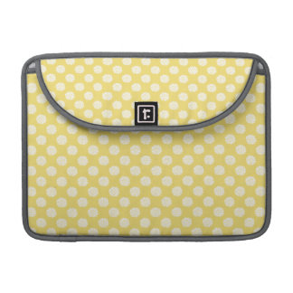 Pale Yellow Peony Pattern Sleeve For MacBook Pro