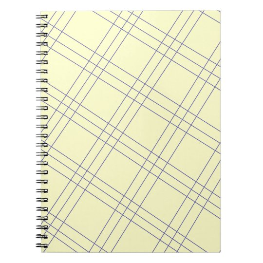 Pale Yellow Plaid Notebook