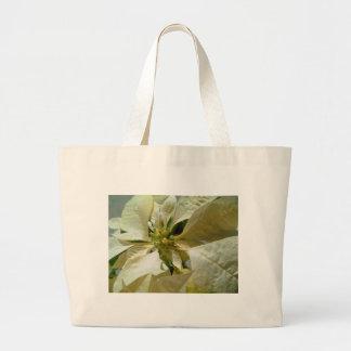 Pale Yellow Poinsettia 1 Jumbo Tote Bag