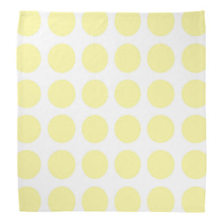 Pale Yellow Polka Dots Bandana