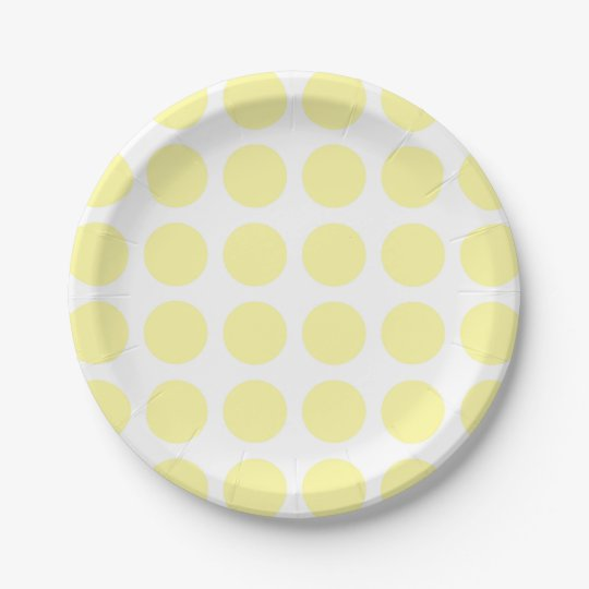 Pale Yellow Polka Dots Paper Plates  sc 1 st  Zazzle & Pale Yellow Polka Dots Paper Plates | Zazzle.com