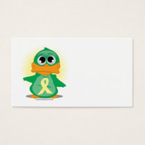 Pale Yellow Ribbon Duck Business Card