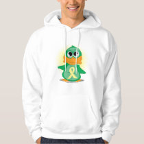 Pale Yellow Ribbon Duck Hoodie