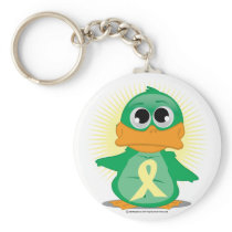 Pale Yellow Ribbon Duck Keychain