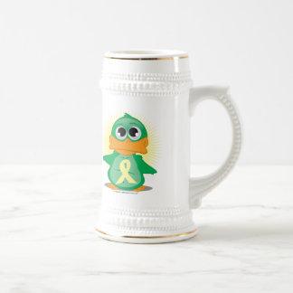Pale Yellow Ribbon Duck Coffee Mugs