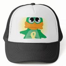 Pale Yellow Ribbon Duck Trucker Hat