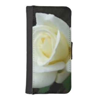 Pale Yellow Rose Bud Bloom Flower Phone Wallets