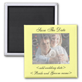 Pale Yellow Save The Date Photo Magnet Fridge Magnets