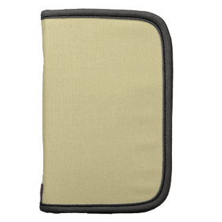 Pale Yellow Solid Color Folio Planner