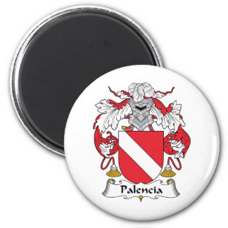 Palencia Family Crest 2 Inch Round Magnet