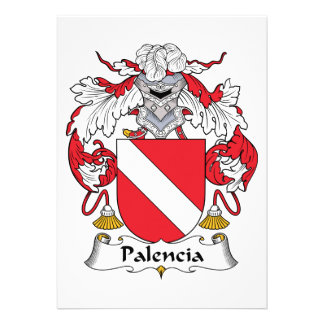 Palencia Family Crest Cards