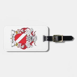 Palencia Family Crest Travel Bag Tag