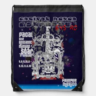 Palenque Astronaut Ancient Mayan Space Traveler Cinch Bag
