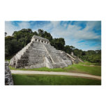 Palenque ruins - Temple of Inscriptions Poster
