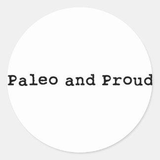 Paleo and Proud Classic Round Sticker