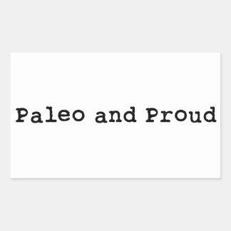 Paleo and Proud Rectangular Sticker