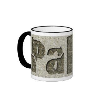 Paleo in Stone Ringer Coffee Mug