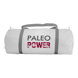 PALEO POWER Fueled by Best Foods - White, Crimson Duffle Bag