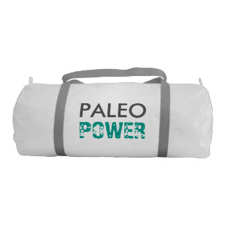PALEO POWER Fueled the Best Foods - White and Teal Gym Bag