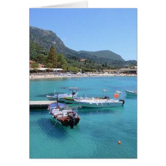 Paleokastritsa Beach, Corfu Card