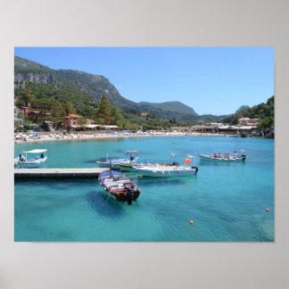 Paleokastritsa Beach, Corfu Poster