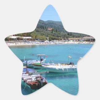 Paleokastritsa Beach, Corfu Star Sticker