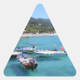 Paleokastritsa Beach, Corfu Triangle Sticker