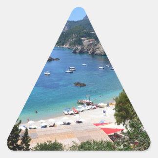 Paleokastritsa Greece Triangle Sticker