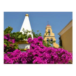 Paleokastritsa Monastery, Corfu Postcard