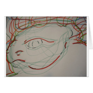 Paleolithic Lives Lines Greeting Card
