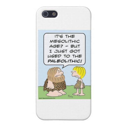 paleolítico mesolítico del hombre de las cavernas iPhone 5 cárcasa