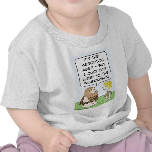 paleolítico mesolítico del hombre de las cavernas camiseta
