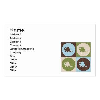 Paleontología del arte pop plantilla de tarjeta de visita