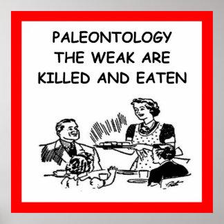paleontología poster
