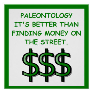 paleontología póster