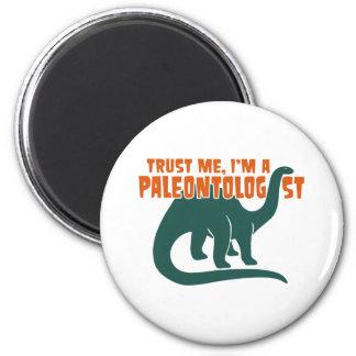 Paleontologist 2 Inch Round Magnet