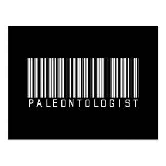 Paleontologist Bar Code Postcards