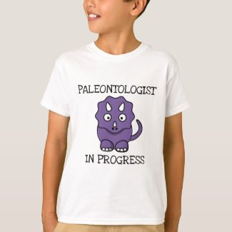 Paleontologist In Progress Purple Triceratops Boys T-Shirt