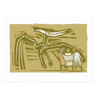 Paleontologists Pterodactyl Fossil Postcard