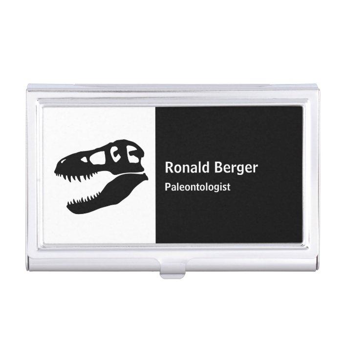 T Rex Dinosaur Skull Business Card Case