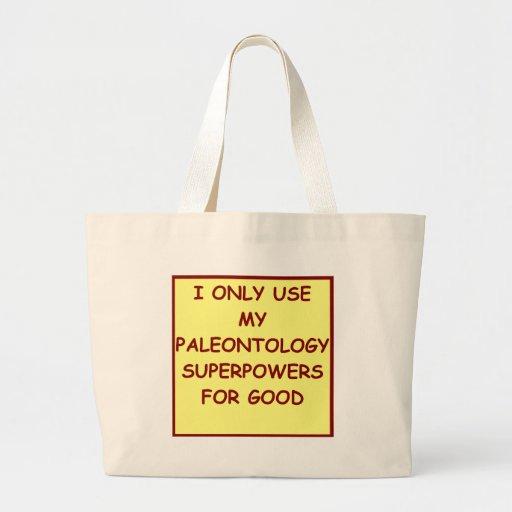 paleontólogo de la paleontología bolsa de mano