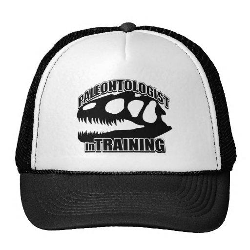 PALEONTÓLOGO en el entrenamiento Gorros Bordados