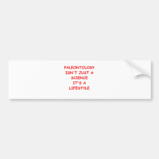 paleontology bumper sticker