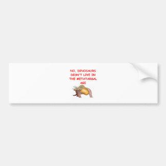paleontology bumper stickers