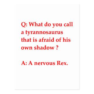 paleontology joke postcard