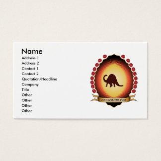 Paleontology Mandorla Business Card