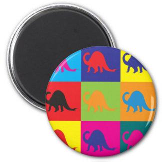 Paleontology Pop Art 2 Inch Round Magnet