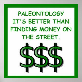 paleontology poster