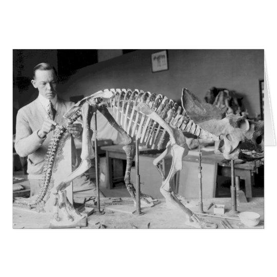 Paleontology Scientist Baby Dinosaur Vintage Card