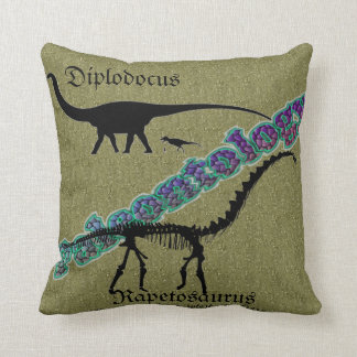 """""""Paleontology"""" Throw Pillow"""